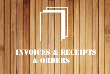 Invoices & Receipts & Orders -wood