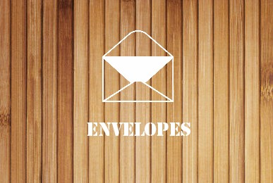 envelopes - wood