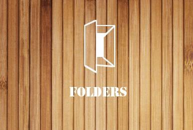 folders wood